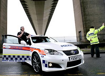 Британская полиция выбирает Lexus IS-F