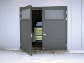 распашные гаражные ворота